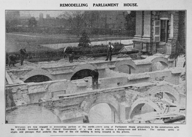 Construction of refreshment rooms