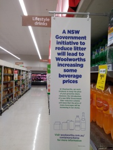 Poster in Woolworths PHOTO by Kathlene Murphy, Nov 2017